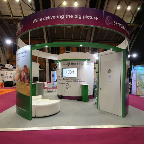Curved modular stand. Image 2 of 5
